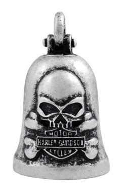 Harley-Davidson Vintage Skull & Crossbones Ride Bell, Durable Zinc HRB051 - Wisconsin Harley-Davidson