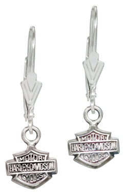 Harley-Davidson Women's Bar & Shield Dangle Earrings HDE0088 - Wisconsin Harley-Davidson