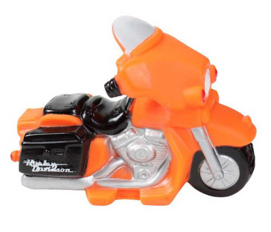 Harley-Davidson Motorcycle Squeaker Pet Toy 4.5 Inch Vinyl Orange H8200-H-V08DOG - Wisconsin Harley-Davidson