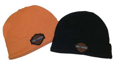 Harley-Davidson Baby Boys' Hat Set, Infant 2 Pack Gift Set, Black/Orange 3050044 - Wisconsin Harley-Davidson
