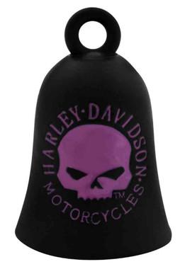 Harley-Davidson Willie G Skull Ride Bell, Black & Pink, Durable Zinc HRB060 - Wisconsin Harley-Davidson