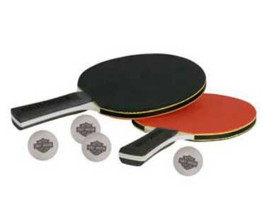 Harley-Davidson Table Tennis Paddle Set - Orange & Black HDL-13704 - Wisconsin Harley-Davidson