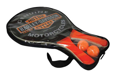 Harley-Davidson Trademark Bar & Shield Paddle Ball Set, Black & Orange 66210 - Wisconsin Harley-Davidson
