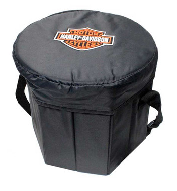 Harley-Davidson Bongo Collapsible Cooler, Bar & Shield Logo, Black 596-00 - Wisconsin Harley-Davidson