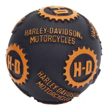 Harley-Davidson H-D Ball Pet Toy 4 Inch Vinyl Black & Orange H8200-H-V07DOG - Wisconsin Harley-Davidson