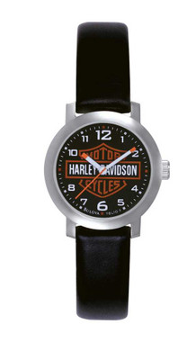 Harley-Davidson Women's Bulova Bar & Shield Wrist Watch 76L10 - Wisconsin Harley-Davidson