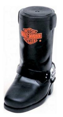 Harley-Davidson Bar & Shield Cowboy Boot Squeaker Pet Toy Vinyl H8200-H-V00DOG - Wisconsin Harley-Davidson