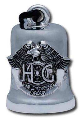Harley-Davidson HOG Emblem Ride Bell, Durable Zinc, Silver HRB068 - Wisconsin Harley-Davidson
