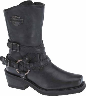 "Harley-Davidson Women's Ingleside 8.5"" Motorcycle Boots. Black or Brown D87091 - Wisconsin Harley-Davidson"