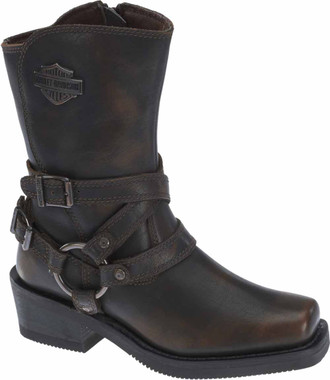 "Harley-Davidson Women's Ingleside 8.5"" Motorcycle Boots. Black or Brown D87091 - Wisconsin Harley-Davidson"