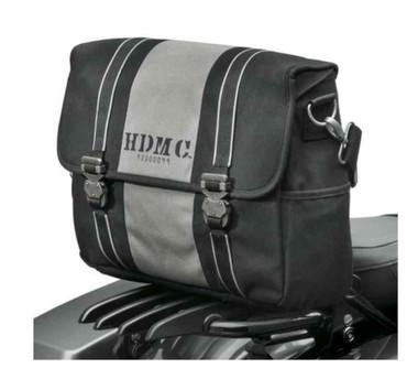 Harley-Davidson HDMC Messenger Bag, Water-Resistant, Black/Silver 93300099 - Wisconsin Harley-Davidson