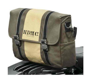 Harley-Davidson HDMC Messenger Bag, Water-Resistant, Brown/Tan 93300100 - Wisconsin Harley-Davidson