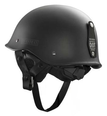 Harley-Davidson Men's Black Label Lone Star Half Helmet, Black 98306-14VM - Wisconsin Harley-Davidson