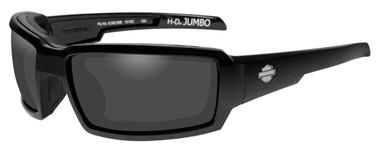 Harley-Davidson Mens Jumbo Sunglasses, Smoke Gray Lens / Black Frame HDJUM01 - Wisconsin Harley-Davidson