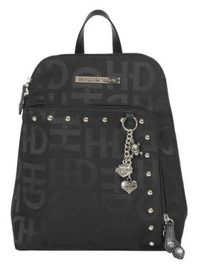 Harley-Davidson Women's H-D Jacquard Studded Backpack, Black HD3417J-BLACK - Wisconsin Harley-Davidson