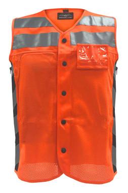 Missing Link Men's Meshed Up Safety Vest Hi-Viz Reflective, Orange MUMO - Wisconsin Harley-Davidson
