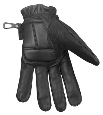 Redline Men's Anti-Vibration Full-Finger Motorcycle Leather Gloves, Black G-055 - Wisconsin Harley-Davidson