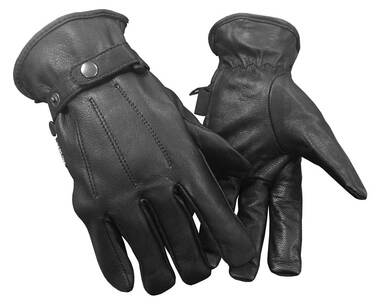 Redline Men's All Season Full-Finger Kevlar Palm Leather Gloves, Black G-052 - Wisconsin Harley-Davidson