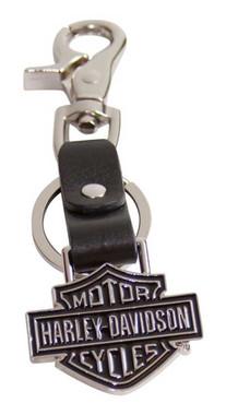 Harley-Davidson Bar & Shield Medallion Bottle Opener Key Fob,  XFL0052-BLACK - Wisconsin Harley-Davidson