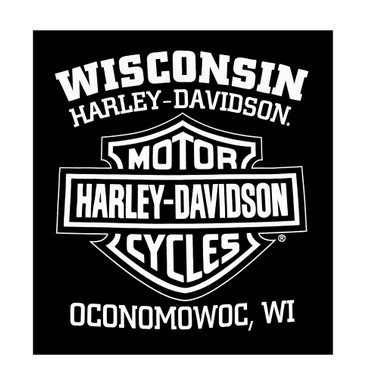 Harley-Davidson Men's Blueprint Bar & Shield Short Sleeve T-Shirt, Black - Wisconsin Harley-Davidson
