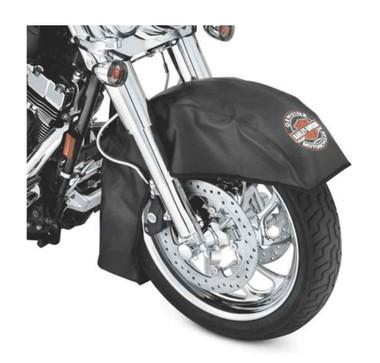 Harley-Davidson Bar & Shield Large Fender Service Cover, Black Vinyl 94641-08 - Wisconsin Harley-Davidson