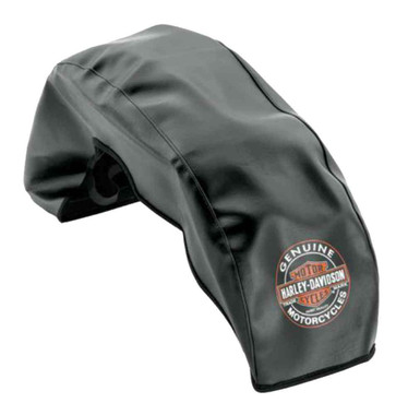 Harley-Davidson Bar & Shield Large Fender Service Cover, Black Vinyl 94641-08 - Wisconsin Harley-Davidson
