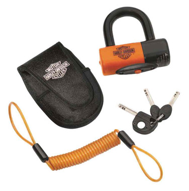 Harley-Davidson Shackle Lock Kit, Secure Brake Disc or Sprocket 94868-10 - Wisconsin Harley-Davidson