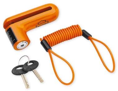Harley-Davidson Disc Brake Security Lock & Reminder Cord, Orange 94873-10 - Wisconsin Harley-Davidson