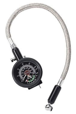 Harley-Davidson Compact Tire Gauge & Tread Indicator w/ Braided Lead 75137-98B - Wisconsin Harley-Davidson