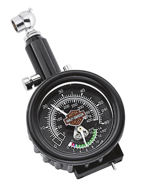 Harley-Davidson Motorcycle Compact Tire Gauge & Tread Depth Indicator 75008-02A - Wisconsin Harley-Davidson