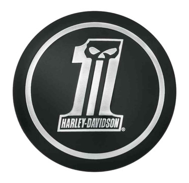 Harley-Davidson Dark Custom Logo Fuel Cap Medallion, Adhesive Backing 99688-10 - Wisconsin Harley-Davidson