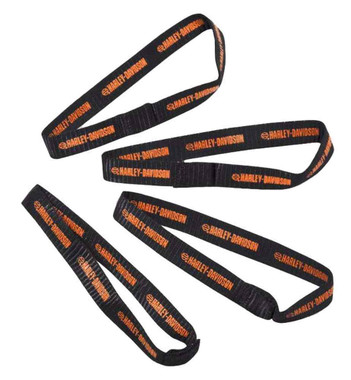 Harley-Davidson Bungee Cord Soft-Hook Extensions, Set of 4, Black 52300140 - Wisconsin Harley-Davidson