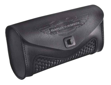 Harley-Davidson Leather Windshield Bag, Fits King-Size Windshields 57207-05A - Wisconsin Harley-Davidson