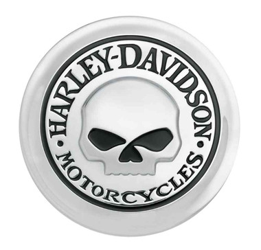 Harley-Davidson Willie G Skull Fuel Cap Medallion, Adhesive Backing 99669-04 - Wisconsin Harley-Davidson