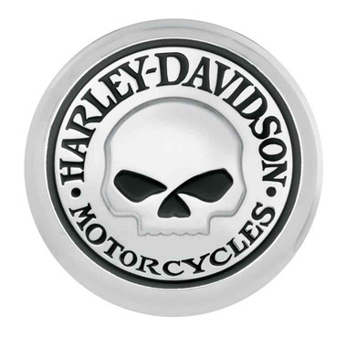 Harley-Davidson Willie G Skull Fuel Cap Medallion, Adhesive Backing 99670-04 - Wisconsin Harley-Davidson