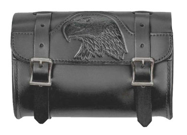 Mascorro Motorcycle Embossed Eagle Small Tool Pouch Bag, Genuine Leather BP50B - Wisconsin Harley-Davidson