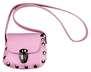 Genuine Leather Little Girls' Studded Little Shoulder Bag Purse, Pink PP32 - Wisconsin Harley-Davidson