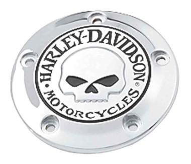 Harley-Davidson Willie G Skull Timer Cover, Fits Twin-Cam Models 32975-04A - Wisconsin Harley-Davidson