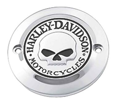 Harley-Davidson Willie G Skull Timer Cover, Fits XL & XR Models 32972-04A - Wisconsin Harley-Davidson
