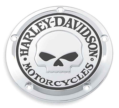 Harley-Davidson Willie G Skull Derby Cover, Fits Dyna, Softail & Etc. 25441-04A - Wisconsin Harley-Davidson