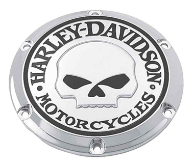 Harley-Davidson Willie G Skull Derby Cover, Fits XL & XR Models 25440-04A - Wisconsin Harley-Davidson