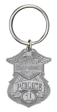 Harley-Davidson Police Original 3D Die Cast Key Chain, Antique Nickel KY126306 - Wisconsin Harley-Davidson