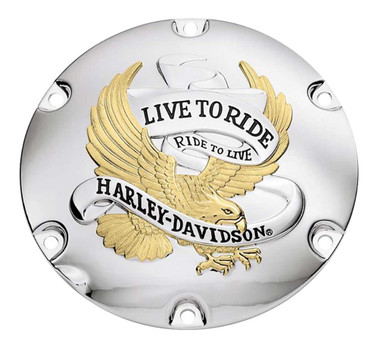 Harley-Davidson Live to Ride Gold Derby Cover, Fits XL & XR Models 25127-04A - Wisconsin Harley-Davidson