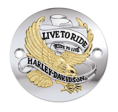 Harley-Davidson Live to Ride Gold Timer Cover, Fits XL & XR Models 32581-90TB - Wisconsin Harley-Davidson