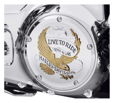 Harley-Davidson Live to Ride Gold Derby Cover, Touring & Trike Models 25700472 - Wisconsin Harley-Davidson