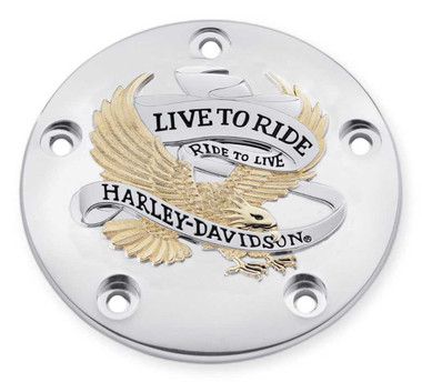 Harley-Davidson Live to Ride Gold Timer Cover, Fits Twin-Cam Models 32689-99A - Wisconsin Harley-Davidson