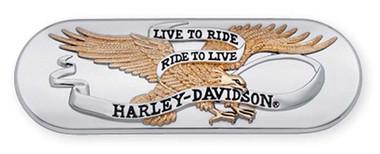 Harley-Davidson Live to Ride Gold & Chrome Transmission End Cover Trim 61400025 - Wisconsin Harley-Davidson