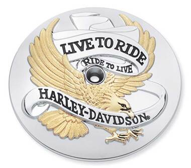 Harley-Davidson Live to Ride Gold Air Cleaner Trim,Evolution 1340 model 29328-99 - Wisconsin Harley-Davidson