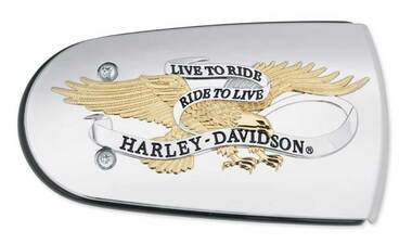 Harley-Davidson Live to Ride Gold Air Cleaner Trim, Fits Softail & Etc. 61300220 - Wisconsin Harley-Davidson