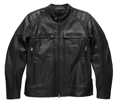 Harley-Davidson Men's Synthesis Pocket System Leather Jacket, Black 98118-17VM - Wisconsin Harley-Davidson